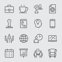 Icône de ligne de bureau d'affaires vecteur