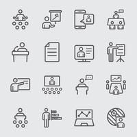 Icône de ligne de présentation d'entreprise