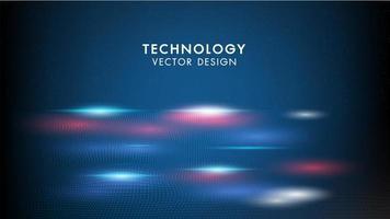 Technologie abstraite fond vagues géométriques vecteur