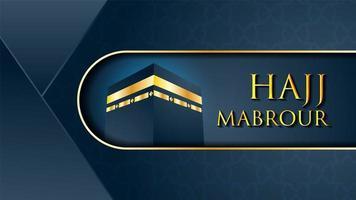 Vecteur Kaaba pour le hajj mabrour à la Mecque en Arabie Saoudite
