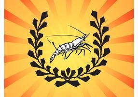 Logo Crevette vecteur