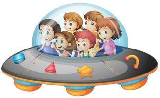 Enfants dans le vaisseau spatial