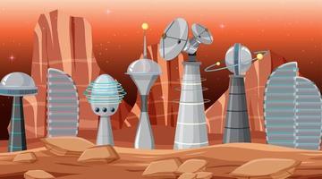 Scène de la ville dans l'espace vecteur