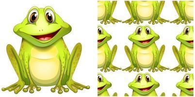 Modèle sans couture avec grenouille