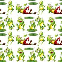 Caricature de modèle sans couture avec des grenouilles