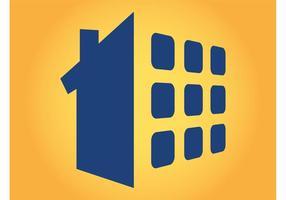 Logo de la maison vecteur