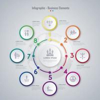 Conception d'éléments infographiques commerciaux vecteur