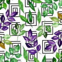 Aquarelle Florale De Memphis vecteur