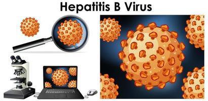 Gros plan d'un objet isolé du virus de l'hépatite B vecteur