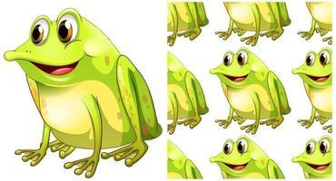 Modèle de grenouille sans soudure et isolé vecteur