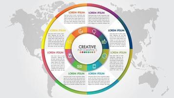 Infographie style présentation de l'entreprise avec 9 étapes