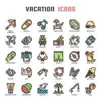 Vacances et Pixel Perfect Icons vecteur