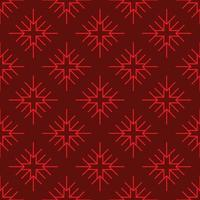 flocon de neige géométrique modèle sans couture rouge