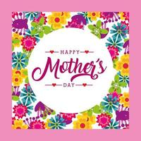 Carte de fête des mères florale vecteur