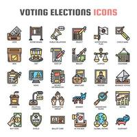 Vote Élections, Thin Line et Pixel Perfect Icons