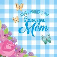 carte de fête des mères vichy vecteur