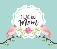 carte de fête des mères vecteur