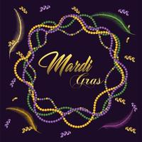 collier décoration à la fête du mardi gras vecteur