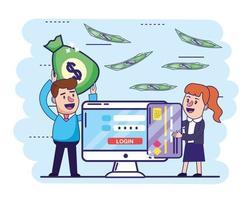 Site de banque en ligne vecteur
