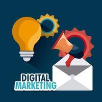 Design marketing numérique vecteur
