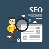 Conception d'illustrations web illustration plat, optimisation SEO