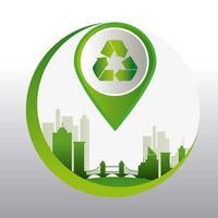 Energie verte et écologie vecteur