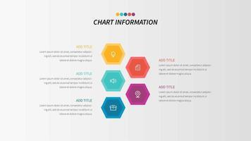 Infographie en 5 étapes vecteur