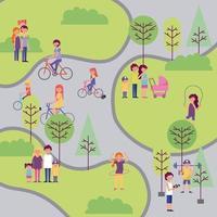 Vue aérienne de personnes profitant du parc