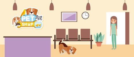 animal de compagnie et vétérinaire vecteur