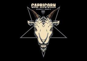 Signe du zodiaque du Capricorne vecteur