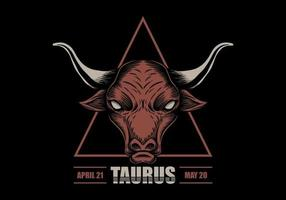 Signe du zodiaque taureau vecteur