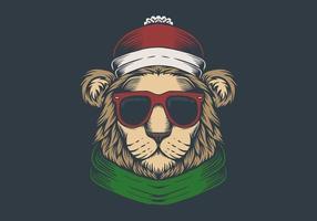 Tête de lion de noël