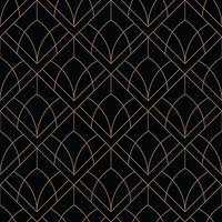 motif géométrique art déco noir et or vecteur