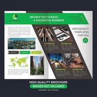 Modèle de Brochure de section moderne vert et marron vecteur