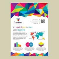 Conception de brochures d'entreprise colorée Low Poly