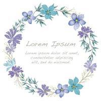 Cadre de fleur aquarelle avec espace de texte.
