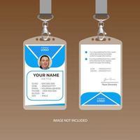 Modèle de carte d'identité corporative bleue