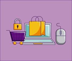 cyber lundi magasin vecteur