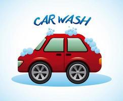 conception de lavage de voiture vecteur