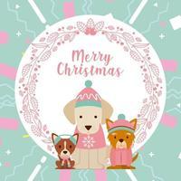 carte de joyeux noël chien