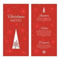 Conception de menus de Noël décoratifs