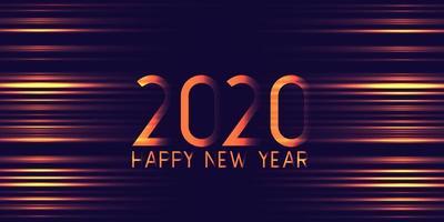 Conception de bannière futuriste rougeoyante bonne année