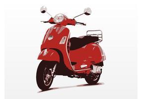 Vecteur vespa scooter