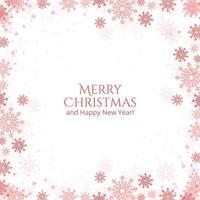 Carte de flocons de neige de Noël et du nouvel an
