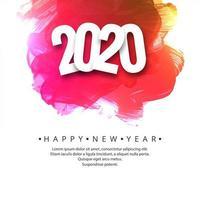 Fond coloré de vacances carte 2020 célébration nouvel an