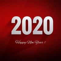Carte de voeux de bonne année 2020 vacances d'hiver
