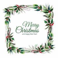 Joyeux Noël célébration de la feuille décorative
