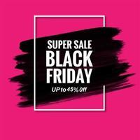 vendredi noir vente moderne fond rose
