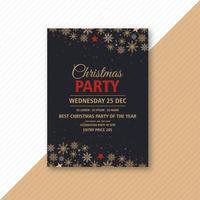 Conception de flyer événement fête de Noël vecteur