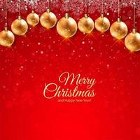 Belle carte de fête de Noël